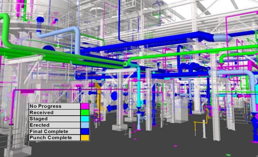 ProjectWise Construction Work Package Server allows team members to visualize construction processes in 3D based on different installation work packages.
