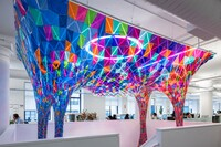 SOFTLab Installation Brings Much Needed Color to a Drab Office