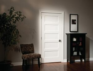 Paneled Passage  CraftMaster's interior doors now include hollow- and solid-core versions of its Conmore model, a molded door that features five smooth, flat panels in a horizontal layout.