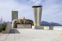 Felice Varini Adorns the MaMo atop Le Corbusier's La Cité Radieuse with Site-Specific Geometric Forms