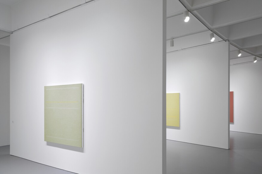Irwin's abstract paintings on display at the Hirshhorn