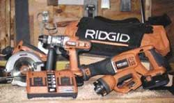 Because fast charging generates a lot of heat, the Ridgid two-bay charger uses a fan to cool the packs.