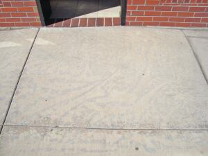 Dry concrete. Localized dry and wet areas during curing frequently create surface discolorations, which can occur as early as 16 hours after concrete placement.