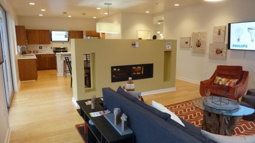 Fire Island House interior.
