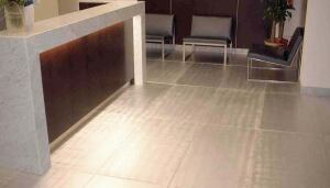 Aluminum floor tilesAluma Floorwww.aluminumflooring.com  Aluminum floor tiles come in standard and custom size - Choice of hand finishes: a random orbital circular or circular left to right - Tight-fitting panels eliminate the need for grouting - Tiles glue down to avoid the use of exposed fasteners