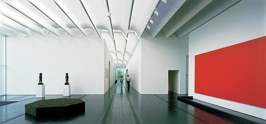 Galleries in the Menil Collection.
