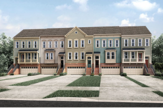 Drees town homes in the D.C. area.
