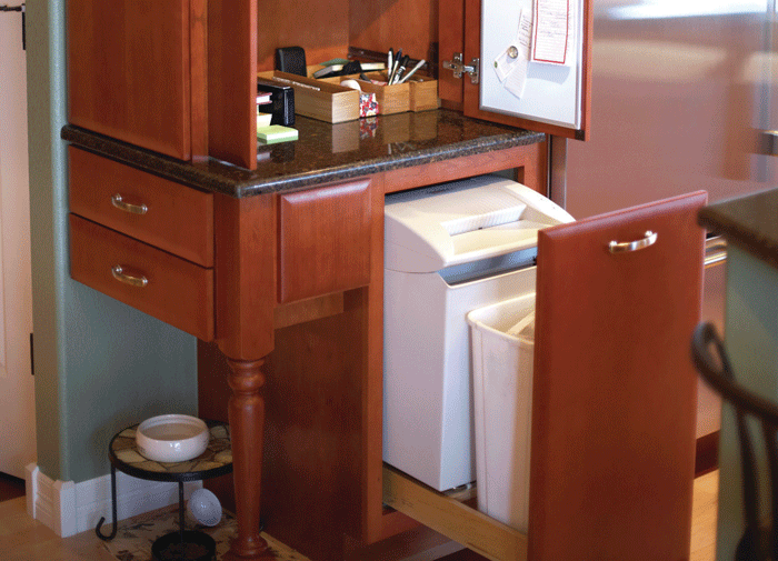 Mail Handler Including A Paper Shredder In The Kitchen