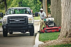 Propane autogas fuels this work truck and walk behind mower. More than 270,000 vehicles across the United States depend on public propane refueling stations or private stations located at a fleet's home base.