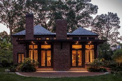 Seamless Integration: Old and New Mingle in 1930s Bethesda Brick Home
