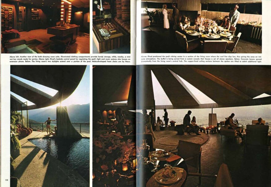 John Lautner's Elrod House in Palm Springs, as featured in a 1971 issue