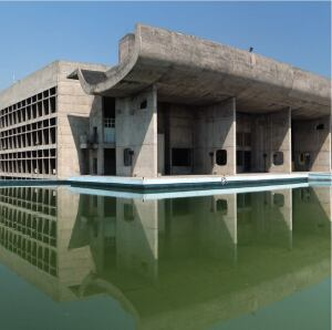 The Parliament in Chandigarh, India, also known as the Palace of Assembly, is among Le Corbusier's best-known buildings in the city.