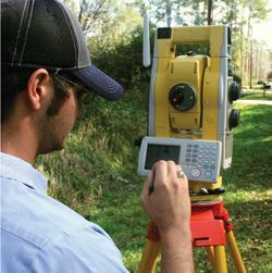 Robotic total stations, such as the Topcon GPT-9005A shown here, are valuable tools for accurately determining the routes and depths of buried utilities. Photos: Topcon