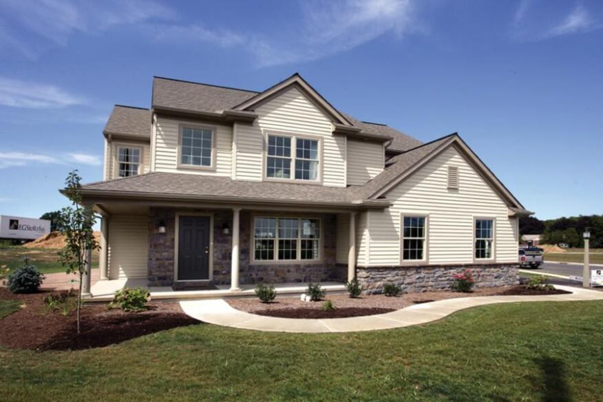 CURB APPEAL: Builder Andy Toms simply adapted and upgraded the specs on an existing plan to achieve a gold rating without having to alter the home's aesthetic appeal.