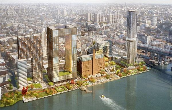 A rendering of the master plan for the Domino Sugar Refinery in Brooklyn, N.Y., by SHoP Architects.