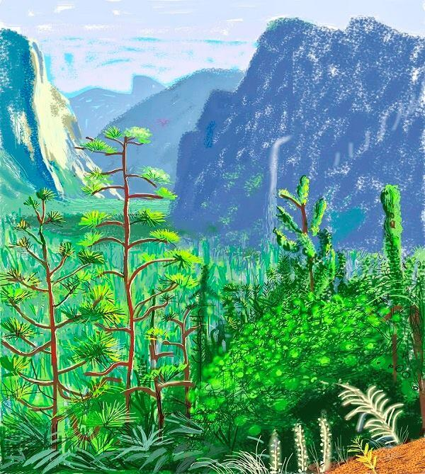 """Yosemite I, October 16th 2011"" by David Hockney"