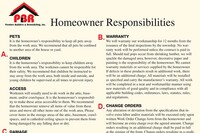 Homeowner Responsibilities Form Helps Prevent Misunderstandings