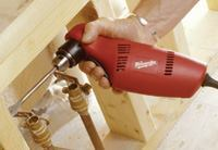 Milwaukee's comfortable handle design and nice power work well for drilling and driving.
