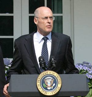 Treasury Secretary Henry Paulson (shown here in 2006) said on Sunday that the federal government would place Fannie Mae and Freddie Mac into conservatorship.