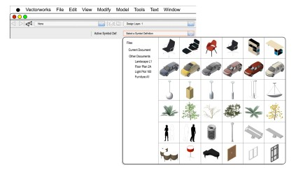 Page through object libraries with thumbnails