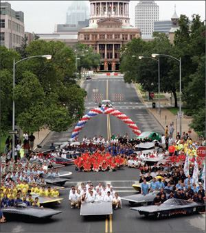 2007 Solar America City Austin, Texas, was also host to the 2005 North American Solar Challenge, a 10-day cross-country solar car race that started in Austin and ended in Calgary, Alberta, Canada. Photo: Department of Energy
