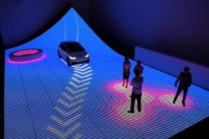 The Digital Interactive Roadway concept by BIG for the Audi Urban Future exhibition, 2011.