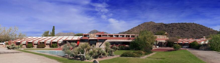 The main house at Taliesin West, Scottsdale, Ariz.