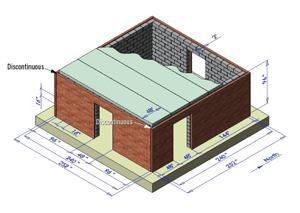 Full-size CMU structure with clay masonry veneer