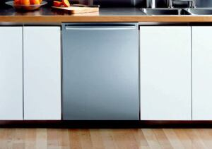 """SLIM FAST: This 18-inch dishwasher is suitable for those with limited kitchen space or who simply want to add dishwashing capacity. Among the quietest on the market at 44 decibels, the unit features a sensor-touch control panel that automatically adapts the cycle to the soil level of the dishes and a """"PartyWash"""" cycle, which runs for about 30 minutes. The product is equipped with the manufacturer's Sensotronic2 technology, which uses two soil sensors to adjust cycle times. Bosch. 800-921-9622. www.boschappliances.com."""