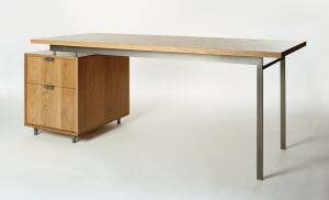 Brooklyn, N.Y.-based Atlas Industries says its ad6 desk is ideal for an architect's office. A companion piece to the firm's as4 modular shelving and storage system, the desk is made from solid hardwood with cold-rolled steel pulls, desk supports, and leve