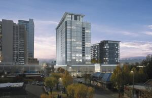 IN THE PIPELINE: AvalonBay's Avalon Towers in Bellevue, Wash., shows off the REIT's growing acumen in high-rise development. Whatever product type, AvalonBay sticks to 16 high-barriermarkets such as Los Angeles, where  Avalon Warner Place sits pretty in the Canoga Park submarket.