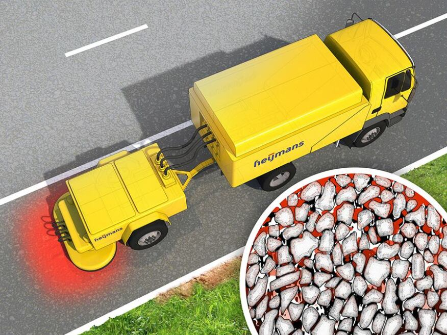 Dutch construction services company Heijmans is working with The Delft University of Technology in the Netherlands to develop a prototype system for implementing self-healing asphalt technology.