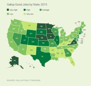 Gallup Good Jobs heat-map