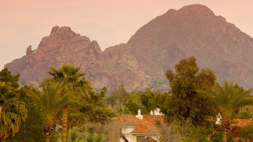 Camelback Mountain views are a feature of the New Home Company's new community plans in Phoenix.