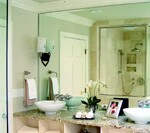 Warmth and elegance in a master bath renovation
