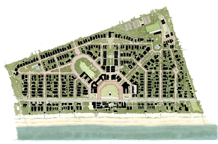 Updated illustrative plan of Seaside, Fla.