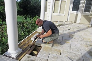 Using paver stones on a deck