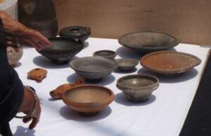 Goddio's team has excavated a wide variety of pottery, as well as granite structures, and limestone blocks.