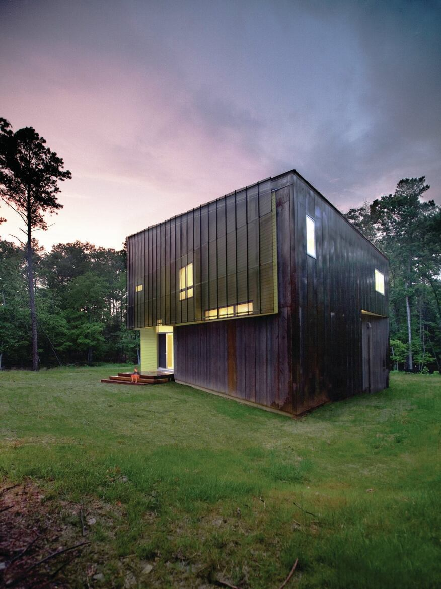 For Crabill Modern, a house in Hillsborough, N.C., Tonic took cues from agricultural buildings in the area and reinterpreted them in a structure wrapped in Cor-Ten panels and screens.