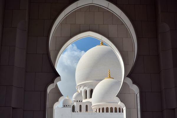 """Through the Arches of Culture."" The Grand Mosque in Abu Dhabi, United Arab Emirates. 2014 Sony World Photography Awards Youth Competition shortlist in the Culture category."