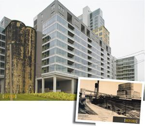 At Silo Point in Baltimore, two 1928 grain elevators remain intact to give residents a sense of the project's history.