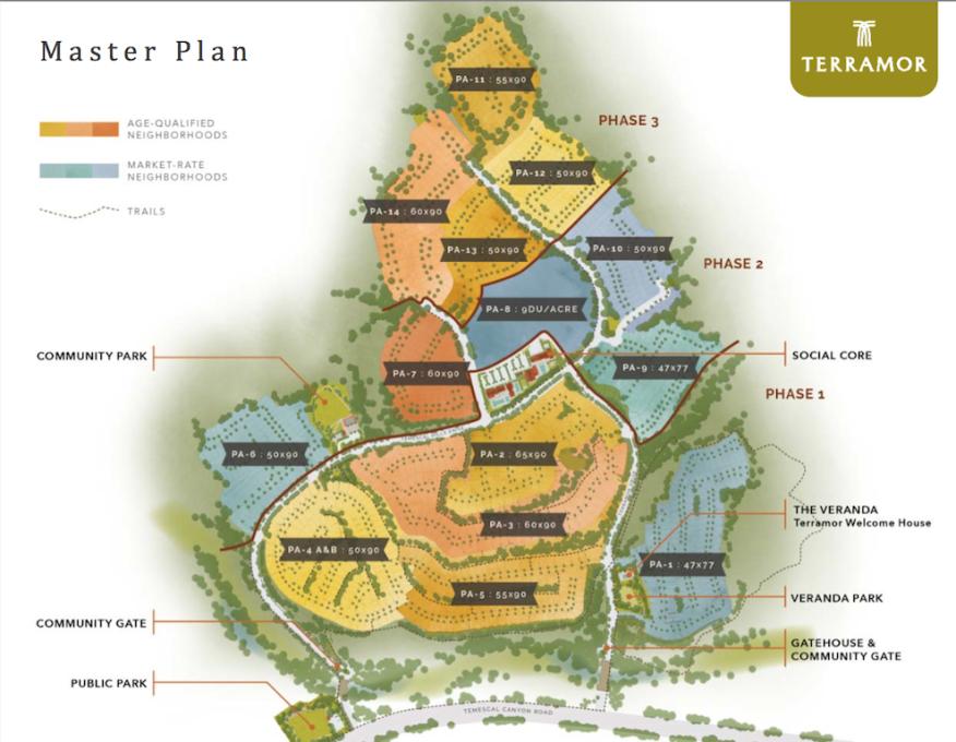 Terramor master plan, Foremost/Starwood, South Corona, Riverside County, Calif.