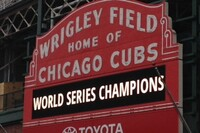 Chalk one up for the Cubs! Fans Leave Best Wishes on Brick Wall at Wrigley Field