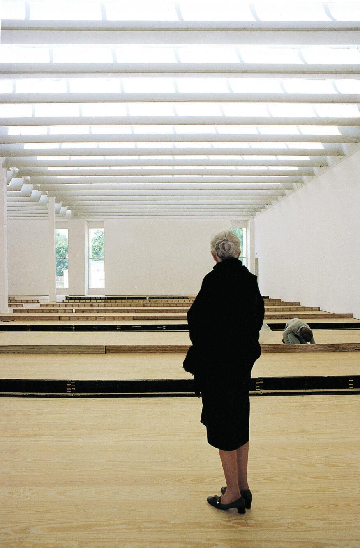 Dominique de Menil inside the Menil Collection museum.