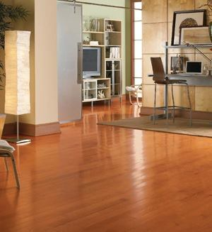RECORD TIME: For hardwood floors made easy, try Bruce Turlington Lock&Fold flooring with NextGen engineered technology. The product offers twice the strength of traditional locking floors, eliminates the need for glue, nails, or staples, and reduces installation time and expenses by an average of 30 percent, the company says. Floors are available in a variety of domestic species and colors including oak, maple, hickory, cherry, and walnut. For more information, call Armstrong World Industries at 800-233-3823 or visit www.bruce.com.