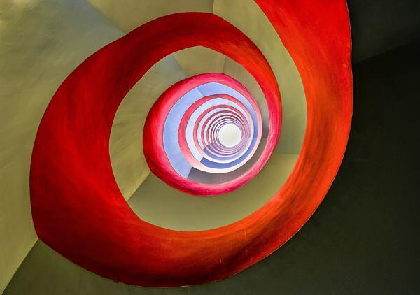 """Under the Staircase."" Staircase in an office building in Cologne, Germany. 2014 Sony World Photography Awards Open Competition Winner in the Architecture category."