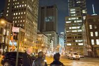 Surveillance Footage Projected onto Manhattan Building