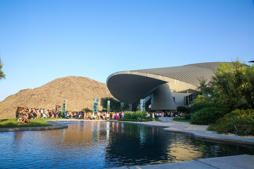 Louis Vuitton hosted a fashion show at the Bob and Dolores Hope Estate in Palm Springs, Calif., on Wednesday. Architect John Lautner designed the house, currently on the market for $25 million. [Los Angeles Times]