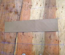 Figure 13. Make a template for the structural treads from cardboard or thin plywood.