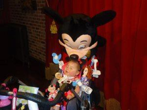 Eva Grace, 2, is BM4K's very first 'cookie kid.' The organization awarded her a trip to Walt Disney World last year where she got a personal visit from Mickey Mouse.